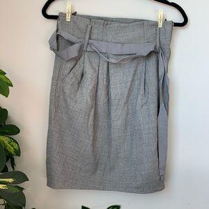 Aritzia Babaton Wool Paperbag Skirt